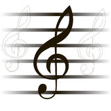 Musical composition. notes .Vector illustration Stock Image