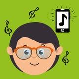 Musical concept design Royalty Free Stock Photos