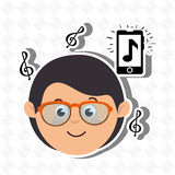 Musical concept design Royalty Free Stock Images