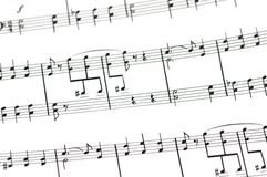 Musical concept - Music sheet Royalty Free Stock Image