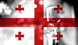 Musical concert, flag of Georgia close up Stock Images