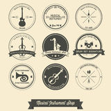 Musical Course Vintage Label Stock Image