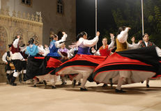 Musical dance group. BATALHA, PORTUGAL - AUGUST 14: International Festival Foclorico Ranch Rythm , Bulgaria musical dance group active in the party town of Stock Images