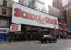 Musical de Broadway, escola da rocha no teatro do wintergarden, NYC, NY, EUA Fotos de Stock Royalty Free