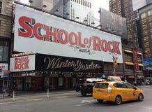 Musical de Broadway, escuela de la roca en el teatro del invernadero, NYC, NY, los E.E.U.U. Foto de archivo