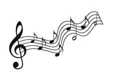 Musical del bastón ilustración del vector