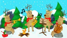 Musical del reno Imagen de archivo libre de regalías