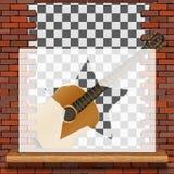 Musical deseniowa ściana z cegieł ilustracji
