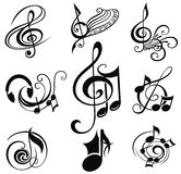 Musical Design Elements Set Royalty Free Stock Photography