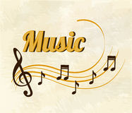 Musical design Royalty Free Stock Photos