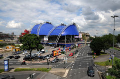 Musical Dome (Cologne). The blue Musical Dome near the river Rhine is Germany's Stock Images