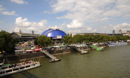 Musical Dome (Cologne) -  Embankment of Rhine. The blue Musical Dome near the river Rhine is Germany's Stock Image
