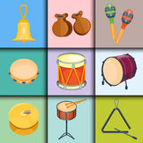 Musical drum wood rhythm music instrument series set of percussion vector illustration. Drummer musician cultural handmade orchestra art performance indigenous Royalty Free Stock Photography