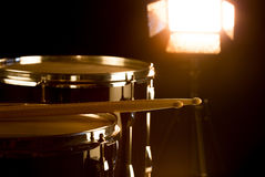 Musical drummer on stage Royalty Free Stock Images