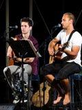 Musical duet stock photography