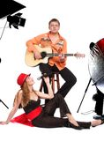 The musical duet Stock Photography
