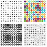 100 musical education icons set vector variant. 100 musical education icons set vector in 4 variant for any web design isolated on white Royalty Free Stock Photos