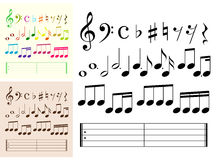 Musical elements Royalty Free Stock Photos