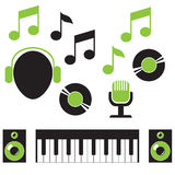Musical elements Royalty Free Stock Image