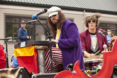 Musical Entertainment. Seattle, Washington - June 18, 2011:  Members of the Phish-y! ensemble lip-synch their way through annual Fremont Solstice Day Parade. The Stock Photography