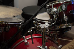 Musical equipment drums. And microphone no people royalty free stock images