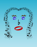 Musical face Stock Photography