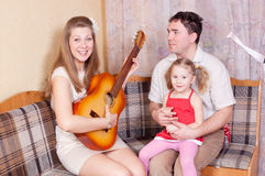 Musical family Royalty Free Stock Photos