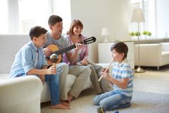 Musical family Royalty Free Stock Photo