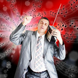 The musical fan Royalty Free Stock Images