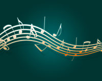 Musical Flow. Flowing music notes. Please visit my portfolio for more vector illustration