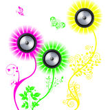 Musical flowers Royalty Free Stock Photos