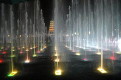 Musical fountain Stock Photo