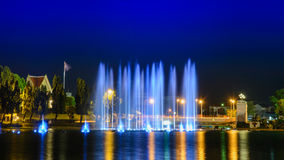 Musical fountain stock photography