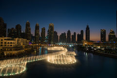 Musical fountain in Dubai royalty free stock images