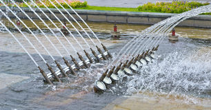 Musical fountain equipment Royalty Free Stock Photos