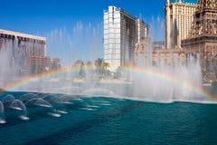 Musical fountain in Las Vegas stock image