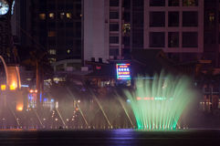Musical Fountain at night in China Stock Photos