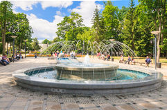 Musical fountain in a park in Druskininkai, Lithuania Royalty Free Stock Photo