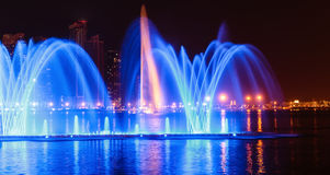Musical fountain show in Sharjah Royalty Free Stock Images