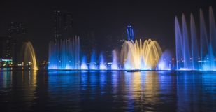 Musical fountain show Royalty Free Stock Photo