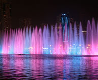 Musical fountain show in Sharjah Stock Photo