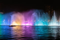 Musical fountain show in Sharjah Royalty Free Stock Photo