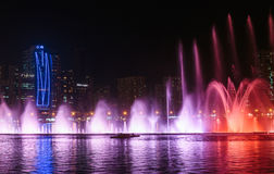 Musical fountain show in Sharjah Stock Image