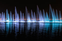 Musical fountain show in Sharjah Royalty Free Stock Photos