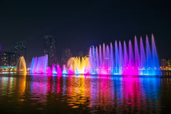 Musical fountain show Royalty Free Stock Photography