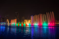 Musical fountain show Stock Image