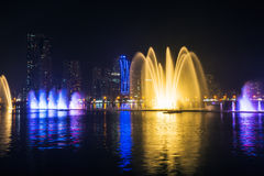 Musical fountain show Royalty Free Stock Image