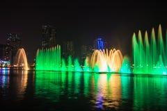 Musical fountain show Stock Photos