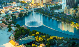 Musical fountains at Bellagio Hotel & Casino in Las Vegas, USA Stock Images