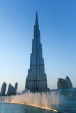Musical fountains in front of Burj Khalifa Royalty Free Stock Photo